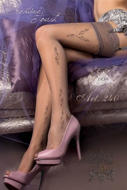 Ballerina 240 Grey Hold Up Stockings