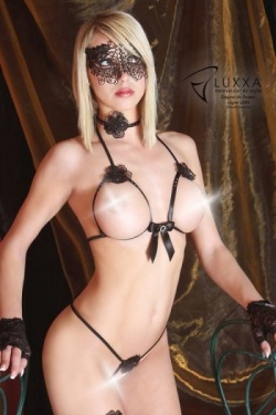 Lion (Leo) Cupless Bra Set Luxxa Lingerie Naked Bra Set