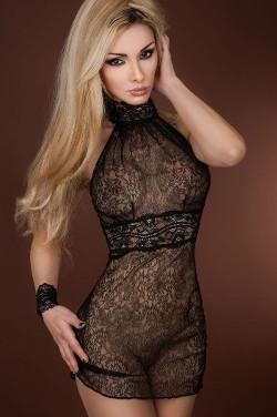 Reglisse Nuisette Sheer Black Nightie by Luxxa