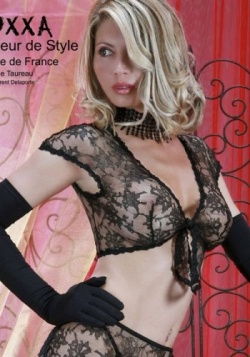 Taureau Black Lace Bolero Top
