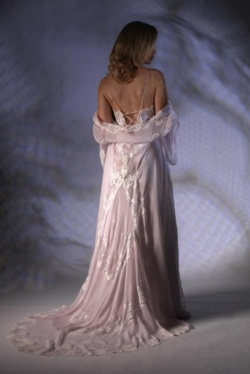 Silk Georgette Negligee - Jane Woolrich 3088