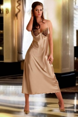 Gold Satin Nightdress