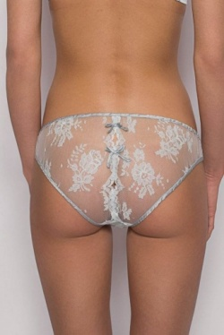 Pale Blue Lace Diamond Knicker - Opaline by Sonata Lingerie