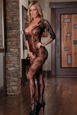 Body Stocking with Plunge Neck Line