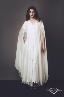 Madame Du Barry Silk Chiffon Robe