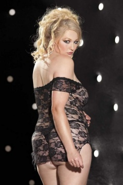 Stretch Lace Chemise One Size Plus