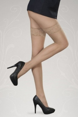Hold Up Stockings - Rosa Naturale 15 Denier