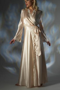 Silk Dressing Gown Jane Woolrich 2682