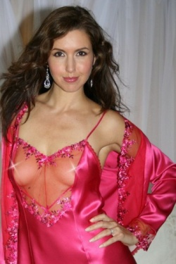 Pink Silk Jacket Caprice by Diki Lingerie