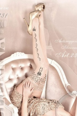 Ballerina Skin Tone  Hold Up Stockings - ART.231