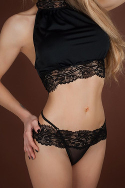 Reglisse Lace String by Luxxa Lingerie